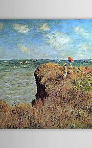 Huile célèbre tableau A Cliff Walk, Pourville par Claude Monet