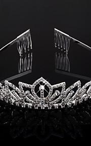 Tocados cristales claros boda tiara nupcial