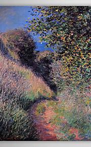 Huile célèbre tableau Un chemin à Pourville par Claude Monet