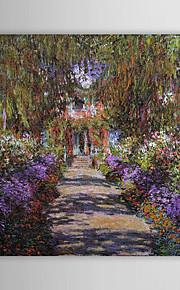 Huile célèbre tableau Une voie dans gardenat Giverny de Monet par Claude Monet