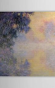 Célèbre peinture à l'huile Bras de la Seine près de Giverny dans le brouillard par Claude Monet