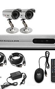 Anko-CCTV-systeem met 2 Outdoor's voor Home & Office (Voor DIY)