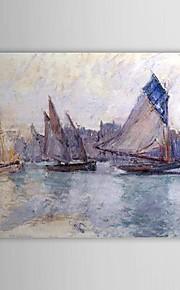 Célèbres peinture à l'huile Bateaux dans le port du Havre par Claude Monet