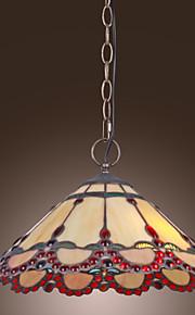 HAUBOURDIN - Lüster Tiffany mit 2 Glühbirnen