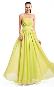 Prom / Formal Evening / Military Ball / Wedding Party Dress - Open Back Plus Size / Petite A-line / Princess Strapless Floor-length