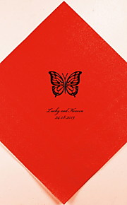 Boda personalizada servilletas Butterfly (más colores) Juego de 100