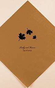 Boda Personalizados Servilletas hojas de arce (más colores)-conjunto de 100