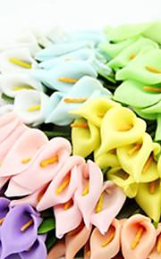 lily decoração do casamento calla artificial - conjunto de 144 flores (mais cores)