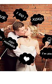 (チョークを含む)6のステッカーセットの結婚式の装飾の写真のブースの小道具