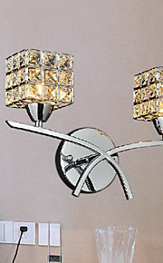 cristal moderne murale à 2 lumières 220-240v