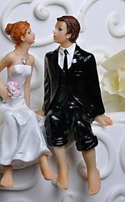ケーキトッパー 非パーソナライズ 夫妻 花 ホワイト / ブラック クラシックテーマ ギフトボックス