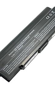 7800mAh Batteria del computer portatile per Sony Vaio VGN-AR VGN-CR VGN-NR VGP-BPS10 VGP-BPS9 VGP-BPS9A / B - Nero