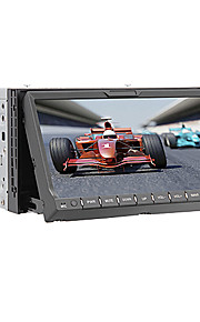 "7 ""2 din touch screen lcd auto lettore dvd nel cruscotto con bluetooth, gps, ipod-input, rds, radio stereo"