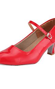 Туфли бальные женские из кожзама (цвета в ассортименте)