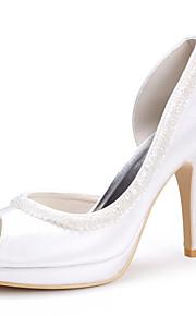 topkwaliteit satijn bovenste hoge hakken peep-tenen met pailletten huwelijk bruids shoes.more kleuren beschikbaar