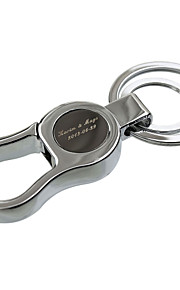 Personalized Engraved Gift High-end Men's Keychains with Bag Hook (Set of 6)