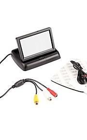 """4.3 """"pieghevole a colori TFT LCD Car Reverse retrovisore Security Monitor Per VCR della macchina fotografica DVD"""