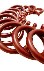 Wine Red Engineering Plastics Holdbar Curtain Clip Ring (Diameter 3,5 cm)