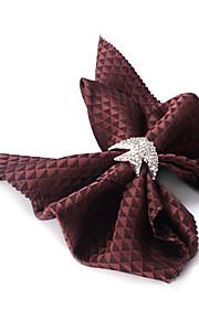 Bowknot Napkin, sæt af 4 Poly / Bomuld European Style