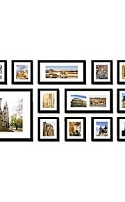 Galería negro marcos de cuadros collage, conjunto de 13