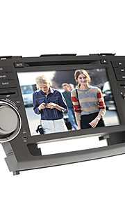 8inch 2 DIN in-dash bil dvd-afspiller til toyota highlander 2008-2012 med gps, bt, ipod, rds, touch screen