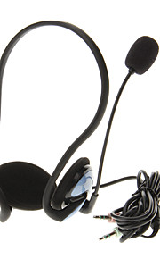 911 3.5mm High Quality On-ear Hals-Band hovedtelefoner headset med mikrofon til computer (blå)