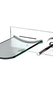 9.6 pollici contemporanea in ottone cromato Single Hole Single Handle Sink Faucet