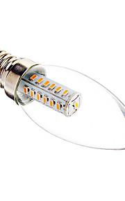E14 3 W 25 SMD 3014 180-210 LM Varm hvit/Kjølig hvit C Dekorativ Lysestakepære AC 220-240 V