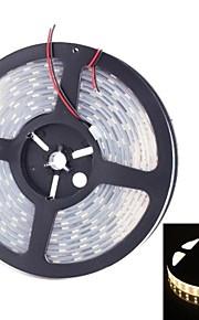 double rangée 600x5050 SMD 144W 6000lm IP67 étanche avertir lumière blanche a mené la lumière de bande (5 mètres / dc 12v)