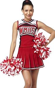 Klassisk stil Rød Polyester 2014 Brasil VM Fotball baby Sexy Girls Cheerleader Uniform