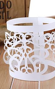 Laser Cut boda servilleta de papel Anillos - Juego de 12
