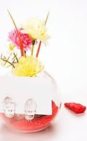 tabellen center glass vase / placecard holder bord deocrations (sand inkludert, blomster ikke inkludert)