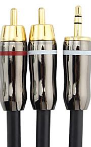 C-Cable 3,5 millimetri maschio a maschio 2xRCA Audio Cable (1M)