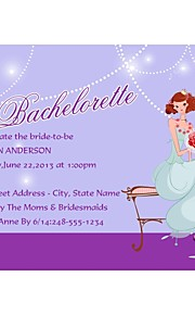 "Personalized ""Sweet Bride"" Lilac Bachelorette Party Cards - Set of 12"