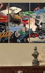 Toiles toile d'art de la ville de Sa chanson Set de 3