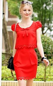 Women's Red/Green Shirt , Casual Short Sleeve