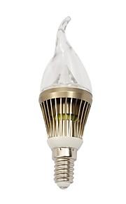 E14 - 4 Stearinlys Pærer (Warm White , Mulighet for demping) 210-240 lm- AC 220-240