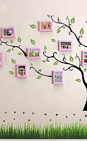 Pink Photo Frame Set de 10 con etiqueta de la pared