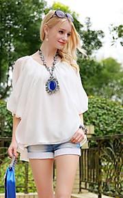 Women's White Shirt , Casual/Work ½ Length Sleeve