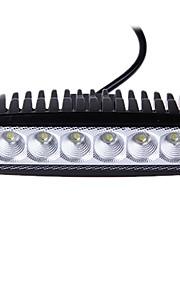 18W(6*3W Epsitar) 2650LM 6000K 4 Inch Car LED Work Light Bar Flood Lamp for SUV Truck DC9-32V