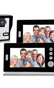 7 Inch Draadloze video deurtelefoon met nachtzicht (1camera 2 monitoren)
