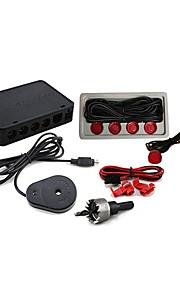 Датчик парковки с 4 Radar + звонок (красный)