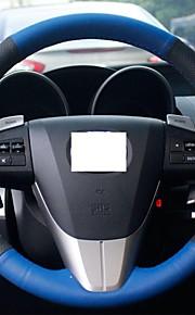 Xuji ™ Blauw echt leder stuurhoes voor Mazda 3 2011-2013 Mazda 5 Mazda 6 Mazda CX7