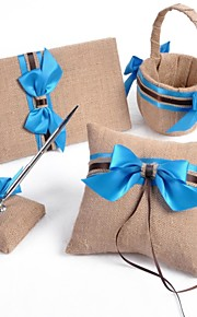 Blue Bow Linen Wedding Collection (4 Pieces)