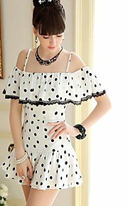 Rosa Puppe Frauen hjgh Taille Dots Rock
