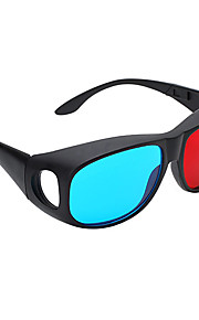 m&k de alta definición de color rojo gafas 3d azules generales para ordenador televisión