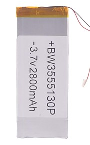 "Universele vervanging van 3.7V 2800mAh Li-polymer batterij voor 7 ~ 10 ""Macbook Samsung Acer Sony Apple Tablet PC (35 * 55 * 130)"