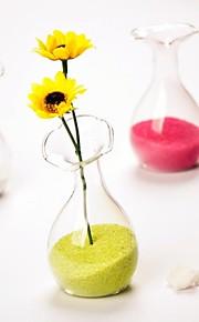 blomst form øvre klart glass vase bord deocrations (sand ikke inkludert, blomster ikke inkludert)
