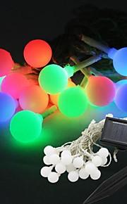 20-ledede solenergi ball form fairy streng lys lampe pære 9m for innredning