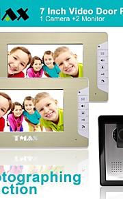 """tmax® 7 """"lcd fotograferen video deurtelefoon met 500tvl nachtzicht camera (1camera naar 2monitors)"""